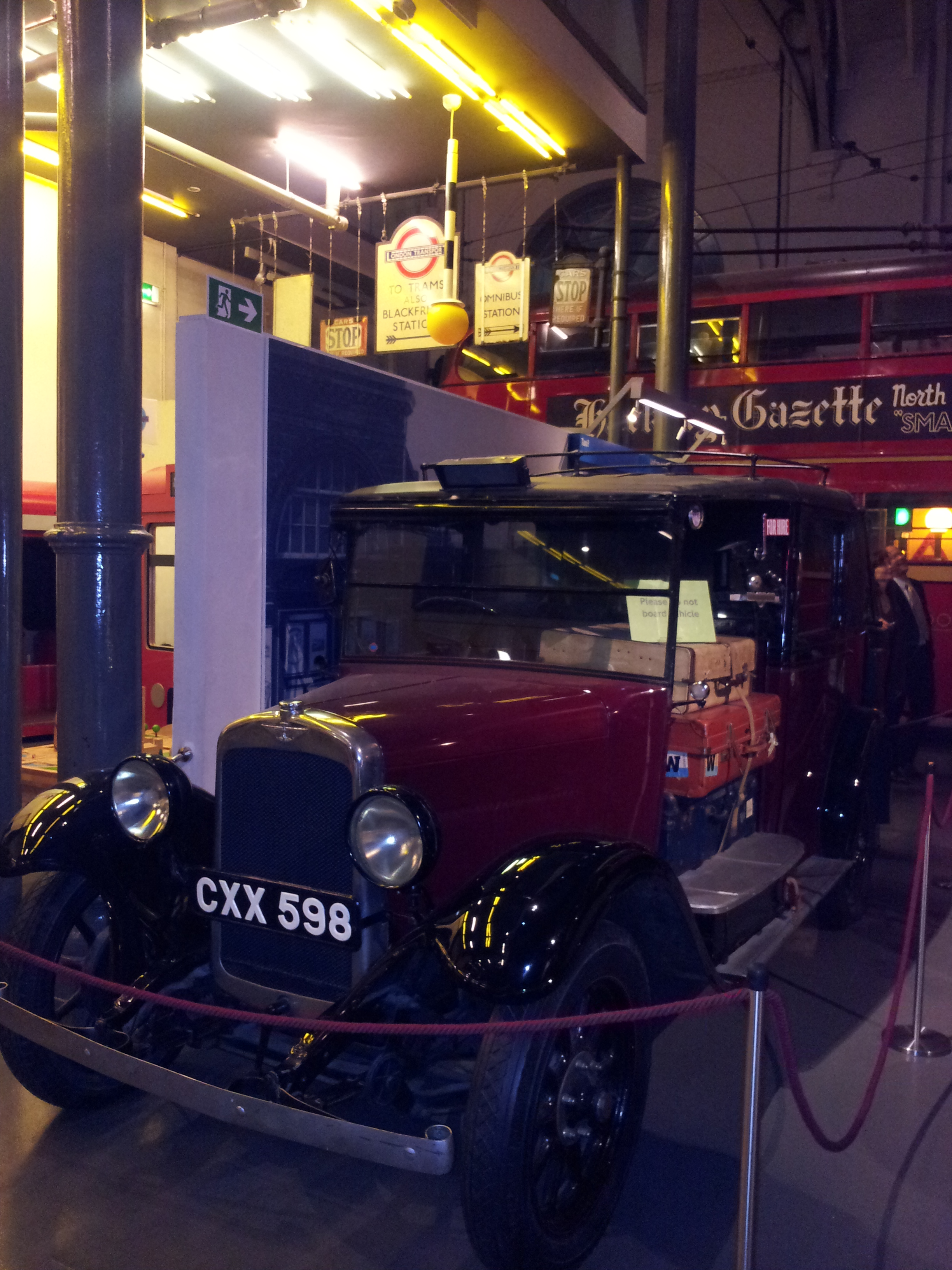 Night at the Museum in London - taxi