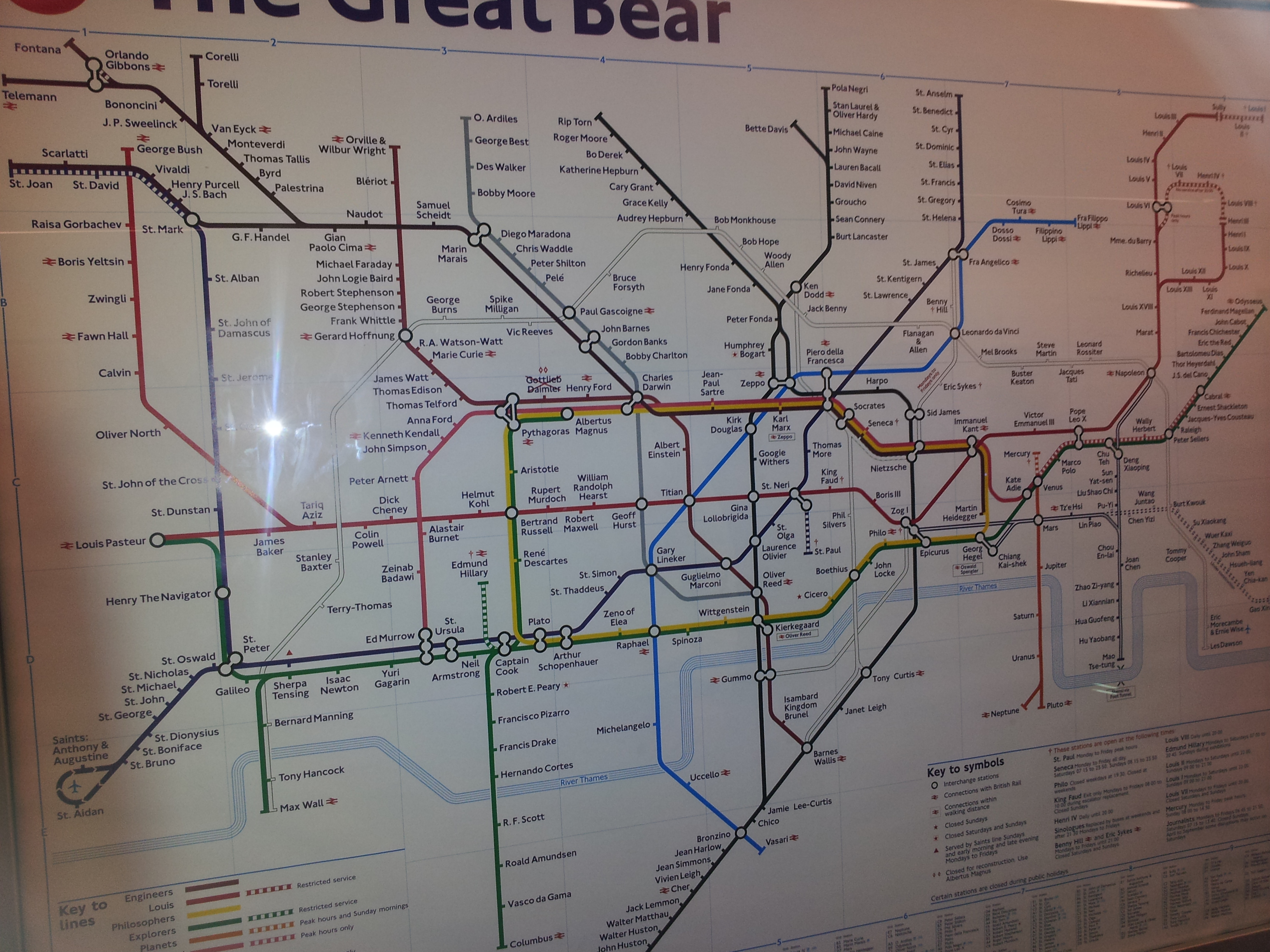 Night at the Museum in London - tube map 1