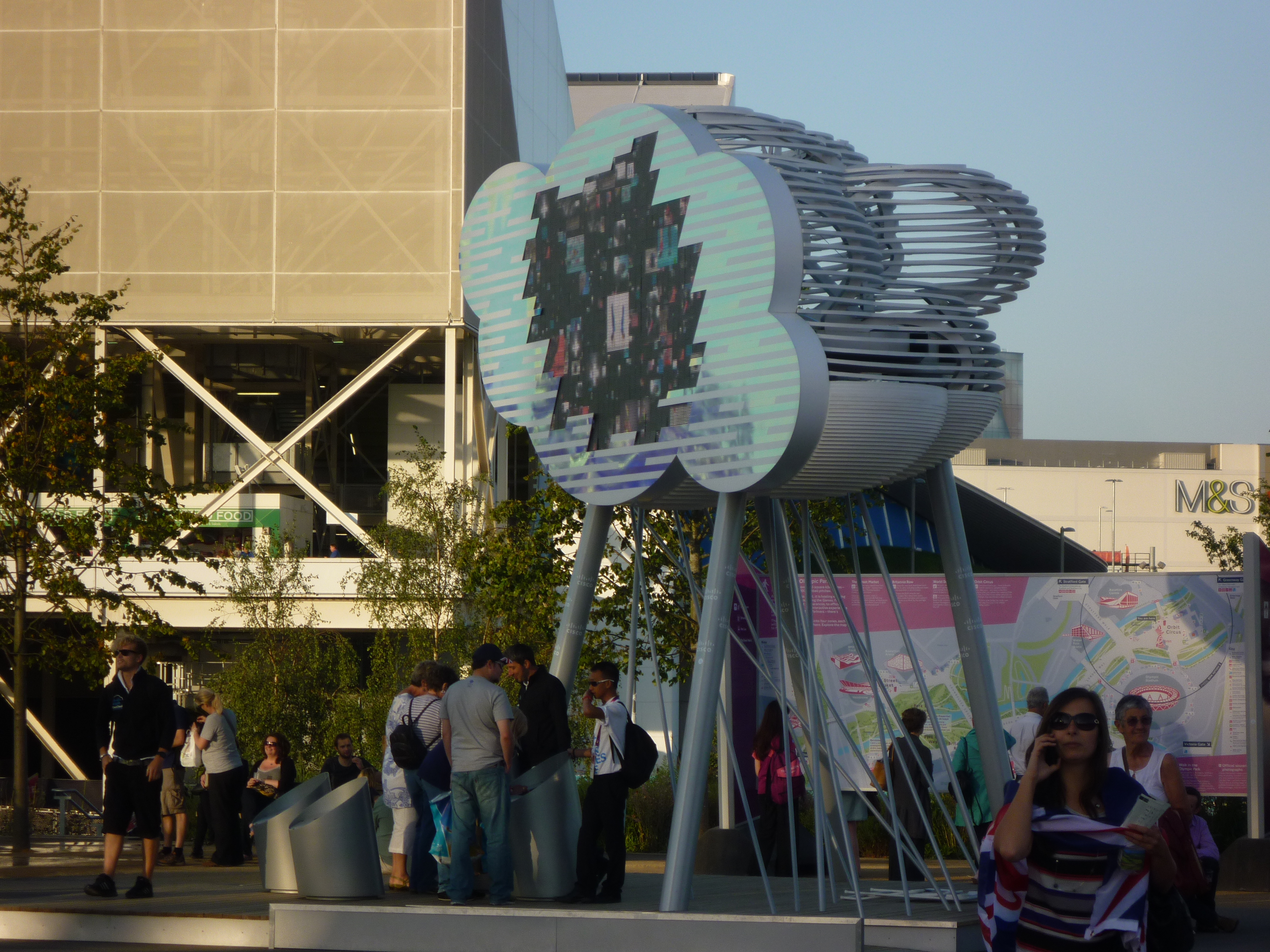 Watching the `Super Humans´- Olympic Park