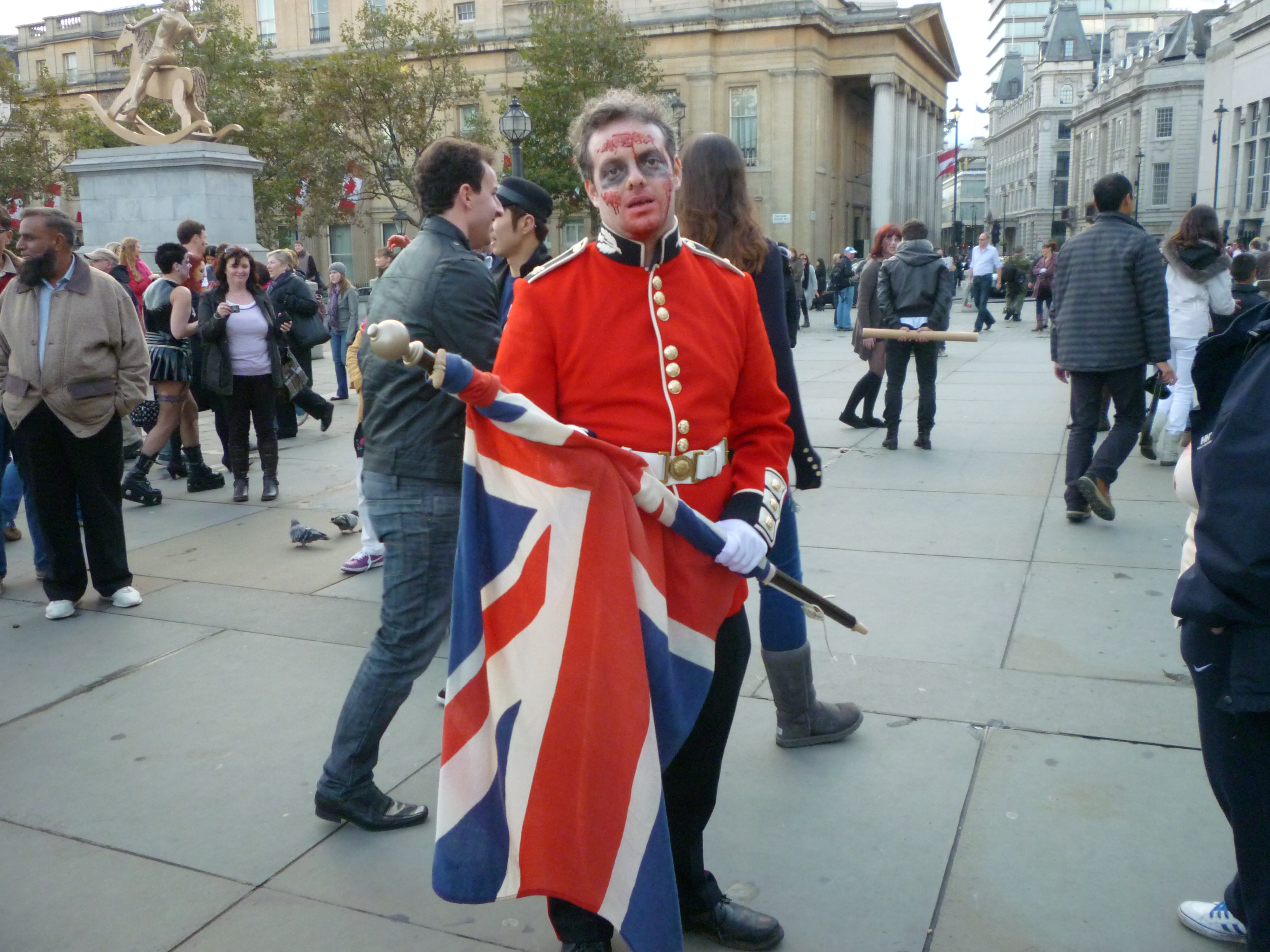 World Zombie Day in London - a figure from the past.