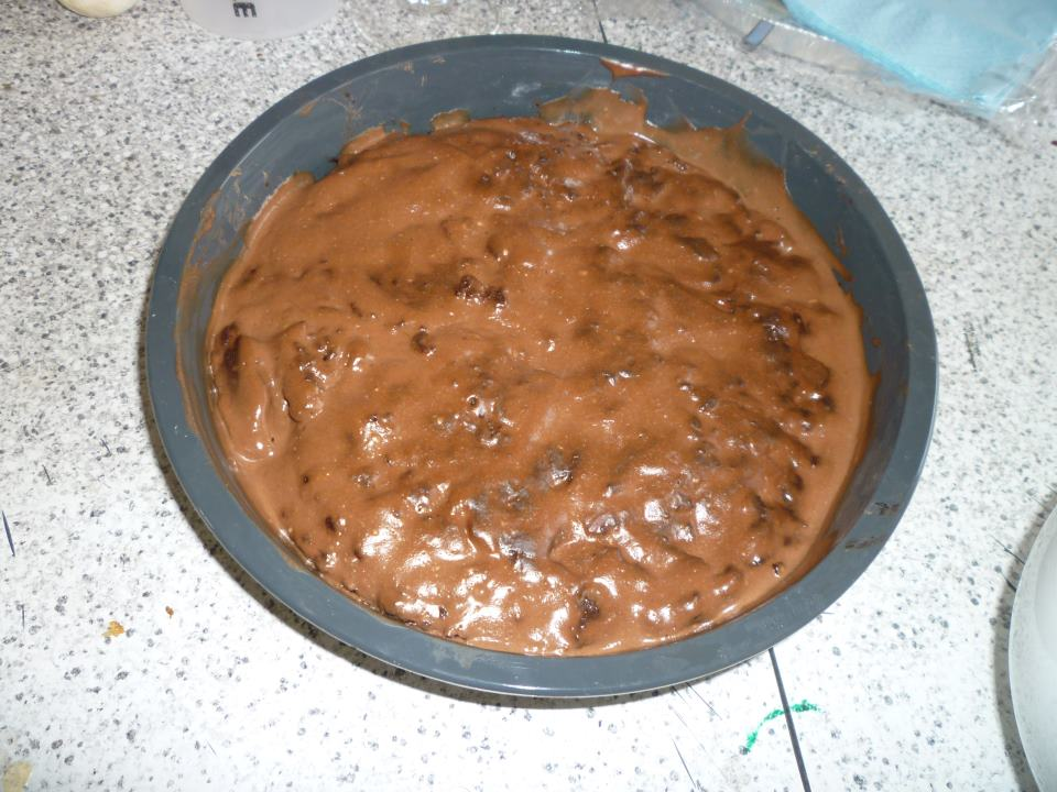Cooking. Eating. Eating, Cooking - Brownie with Chocolate Yogurt Frosting