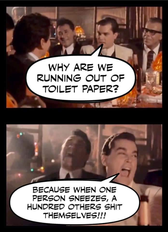 Why have we run out of toilet paper?