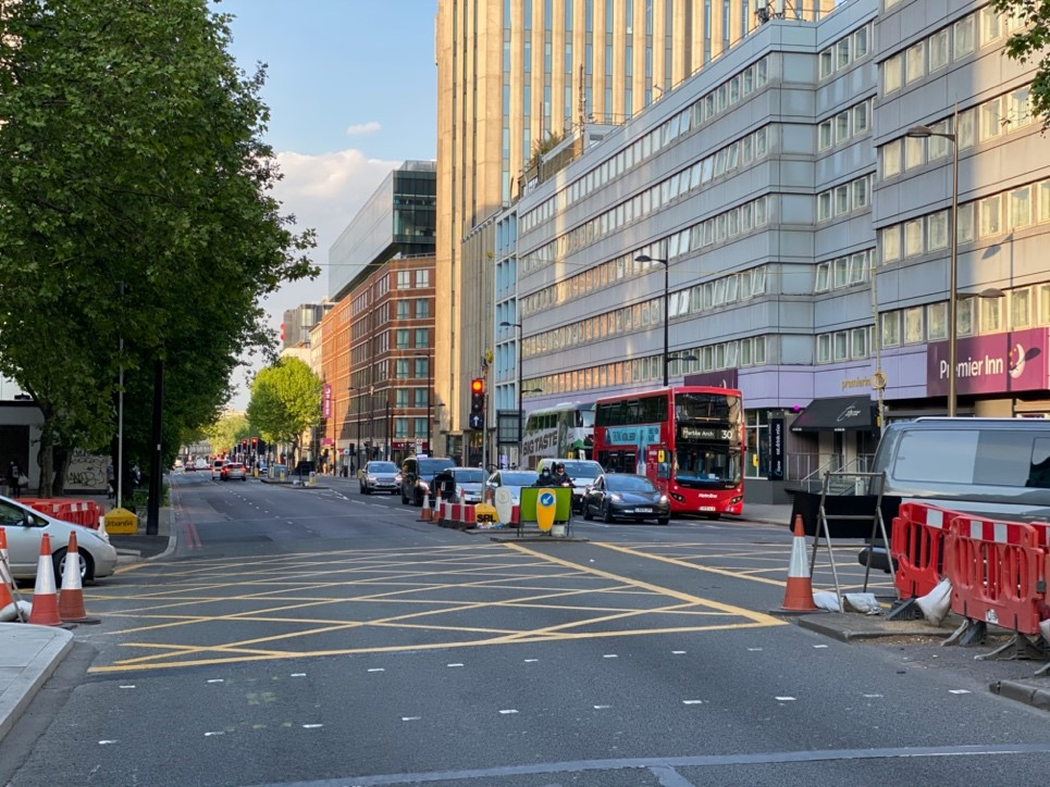 Euston road almost empty during lockdown