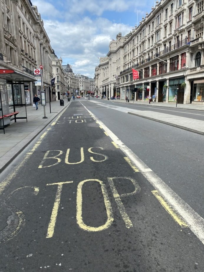 Regent Street like 28 Days Later